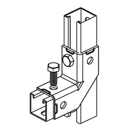 З'єднувач 90°/2D BIS Strut (BUP1000) схема з'єднання