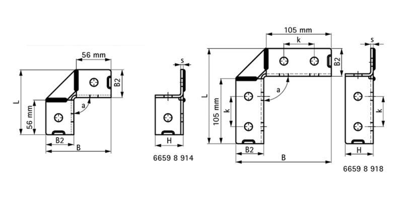 Специфікація - BIS Strut з'єднувач 90°/2D (BUP1000)