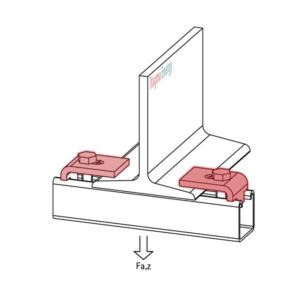 Балочний зажим M10 BIS Strut - монтаж