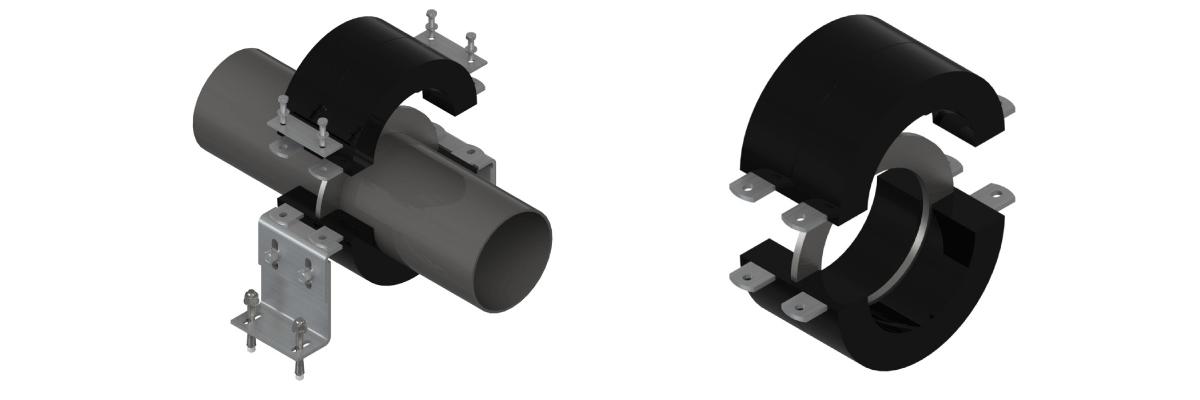 Walraven BISOFIX® CF Хомут з фіксуючим приварним фланцем для роботи при низьких температурах - монтаж