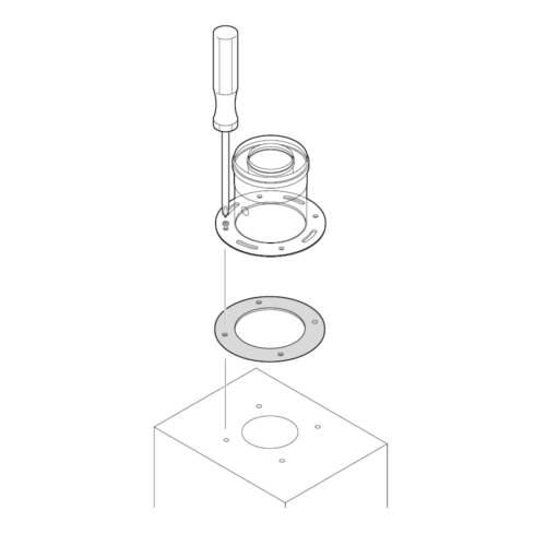 Адаптер для підключення до котла димоходу схема