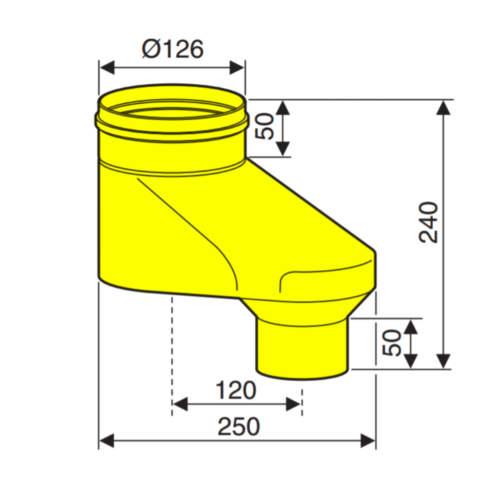 Адаптер для підключення роздільних димоходів Ø80-80
