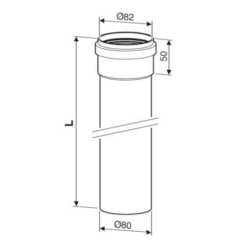 Подовжувач для роздільних димоходів Bosch AZ 409 схема