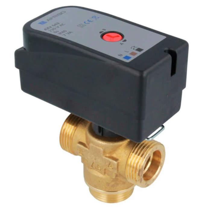 Триходовий перемикаючий клапан із серводвигуном AZV643