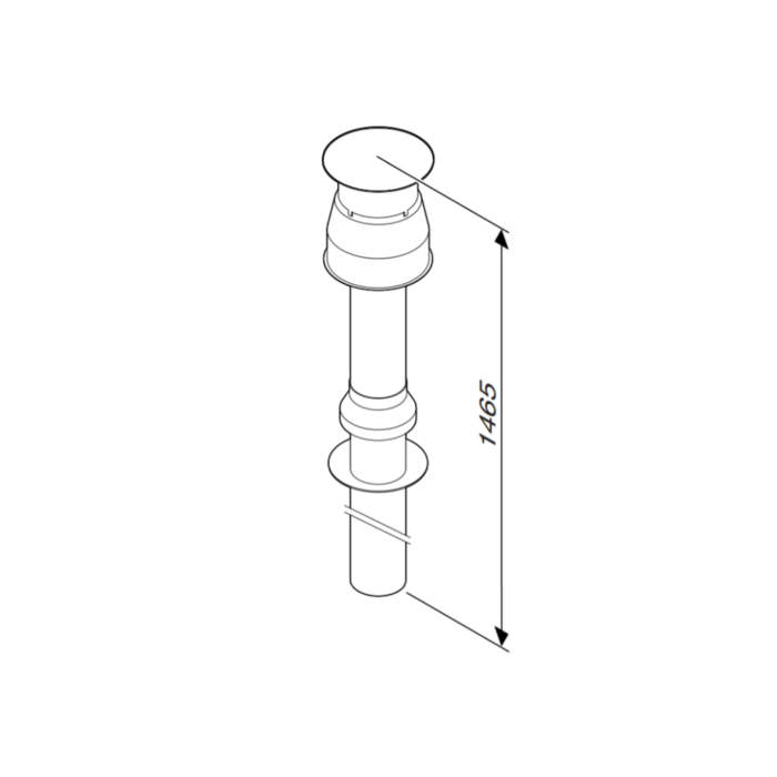 Коаксіальні димоходи Bosсh (горизонтальні та вертикальні) для газових котлів Ø60/100 мм