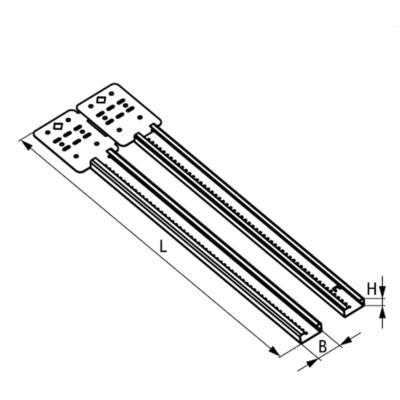 Розсувний стіновий кронштейн Walraven Britclips® RSWB - розміри