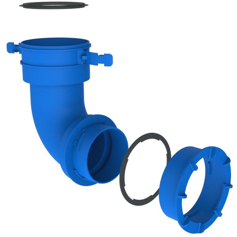 З'єднання для вентиляційної труби до короба повітряного колектора під 90°