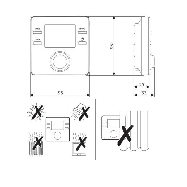 Правила монтажу терморегулятора Bosch CR50
