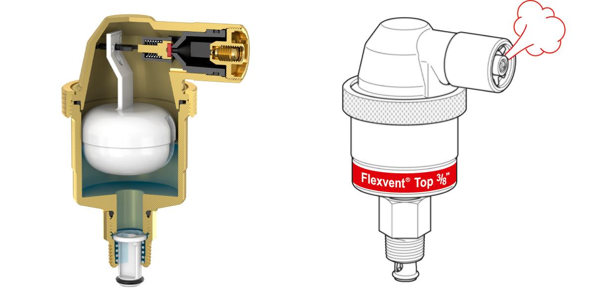 Автоматичний повітровідвідник Flamco Meibes Flexvent Top