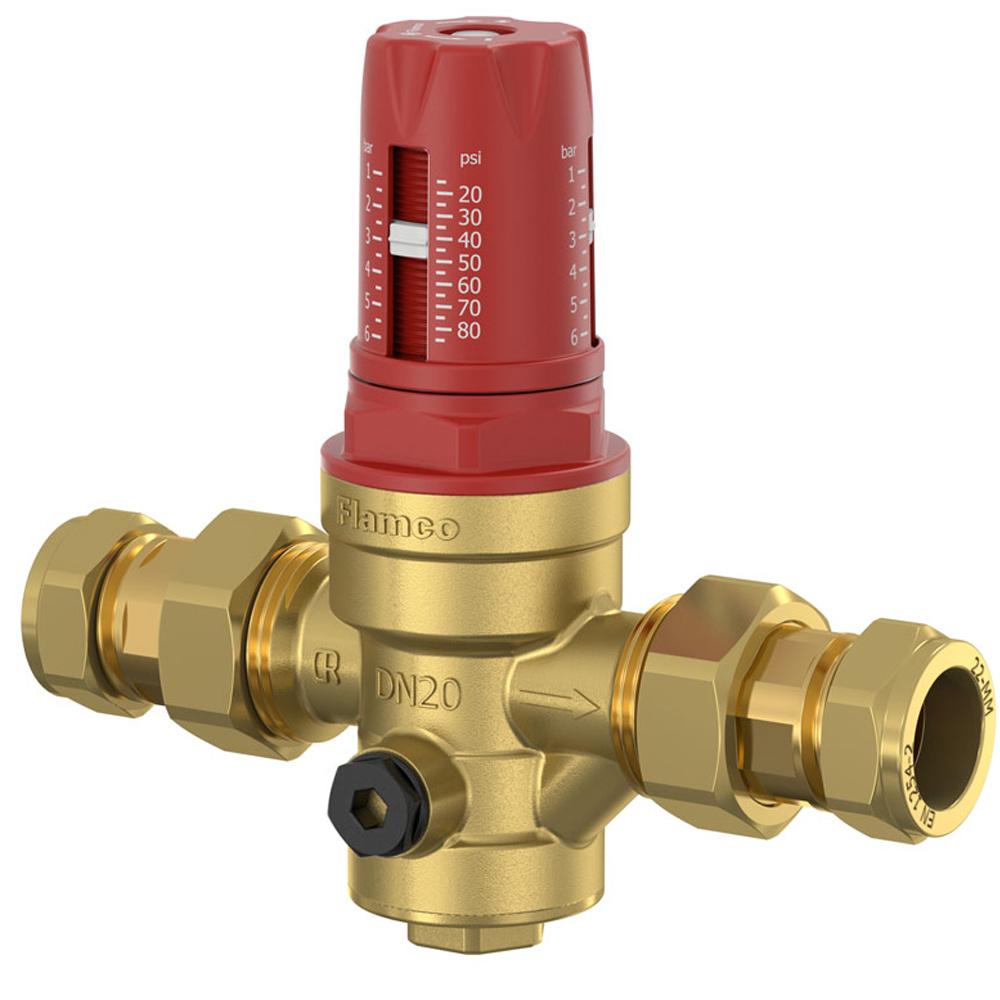 Мембранний редуктор тиску води Flamco Meibes Prescor PRV цангове з'єднання