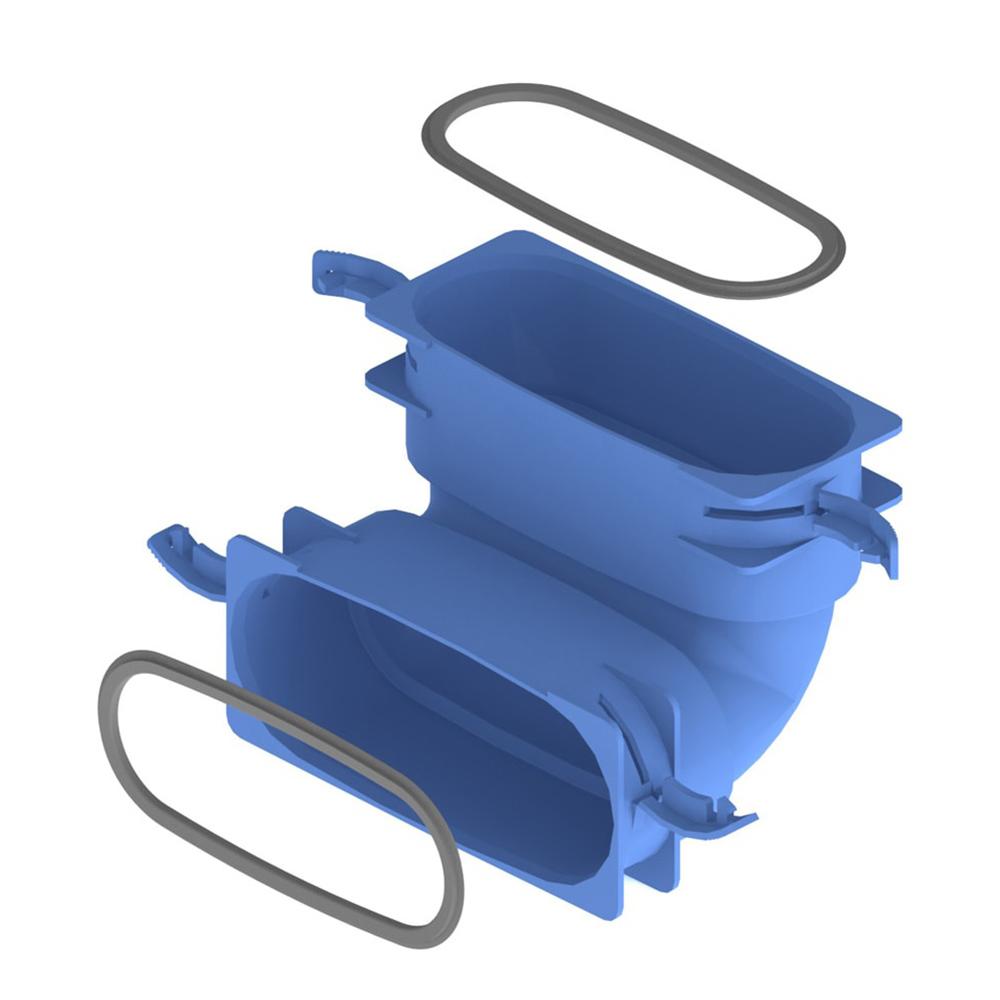 Плоске з'єднувальне вертикальне коліно