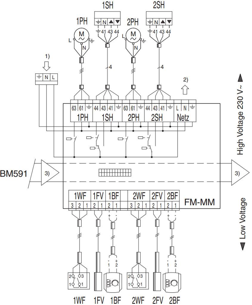 Схема підключення функціонального модулю Buderus logamatic FM-AM