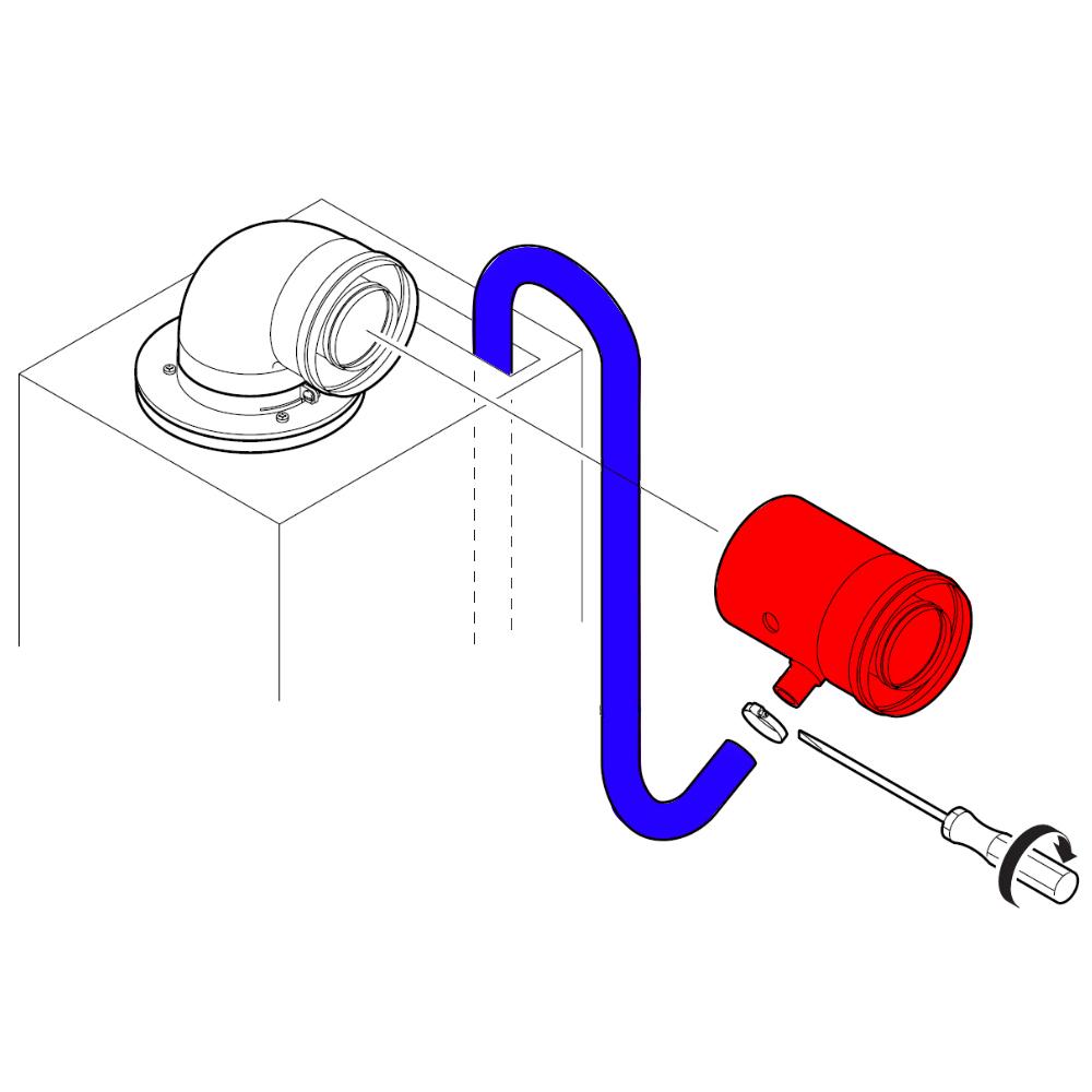 Горизонтальний комплект для відведення конденсату Bozch AZ 401 схема