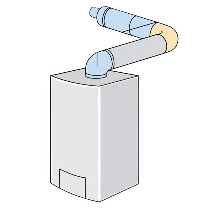 Горизонтальний коаксіальний димохід Bosch AZ 396 схема