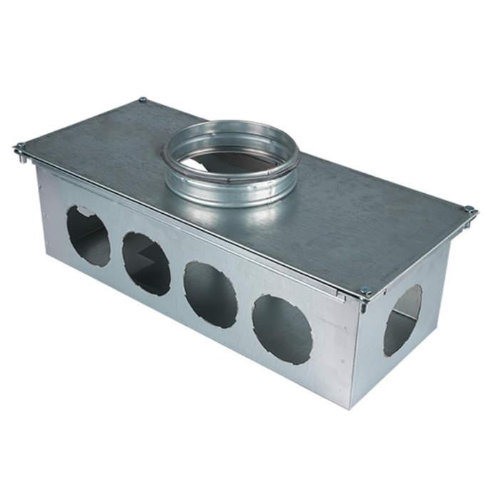 Вентиляційний колектор стальний 10 труб