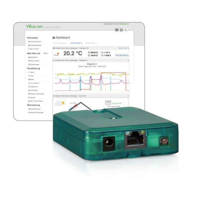 Resol KM2 - модуль зв'язку з системою для подальшого моніторингу та керування через мережу інтернет