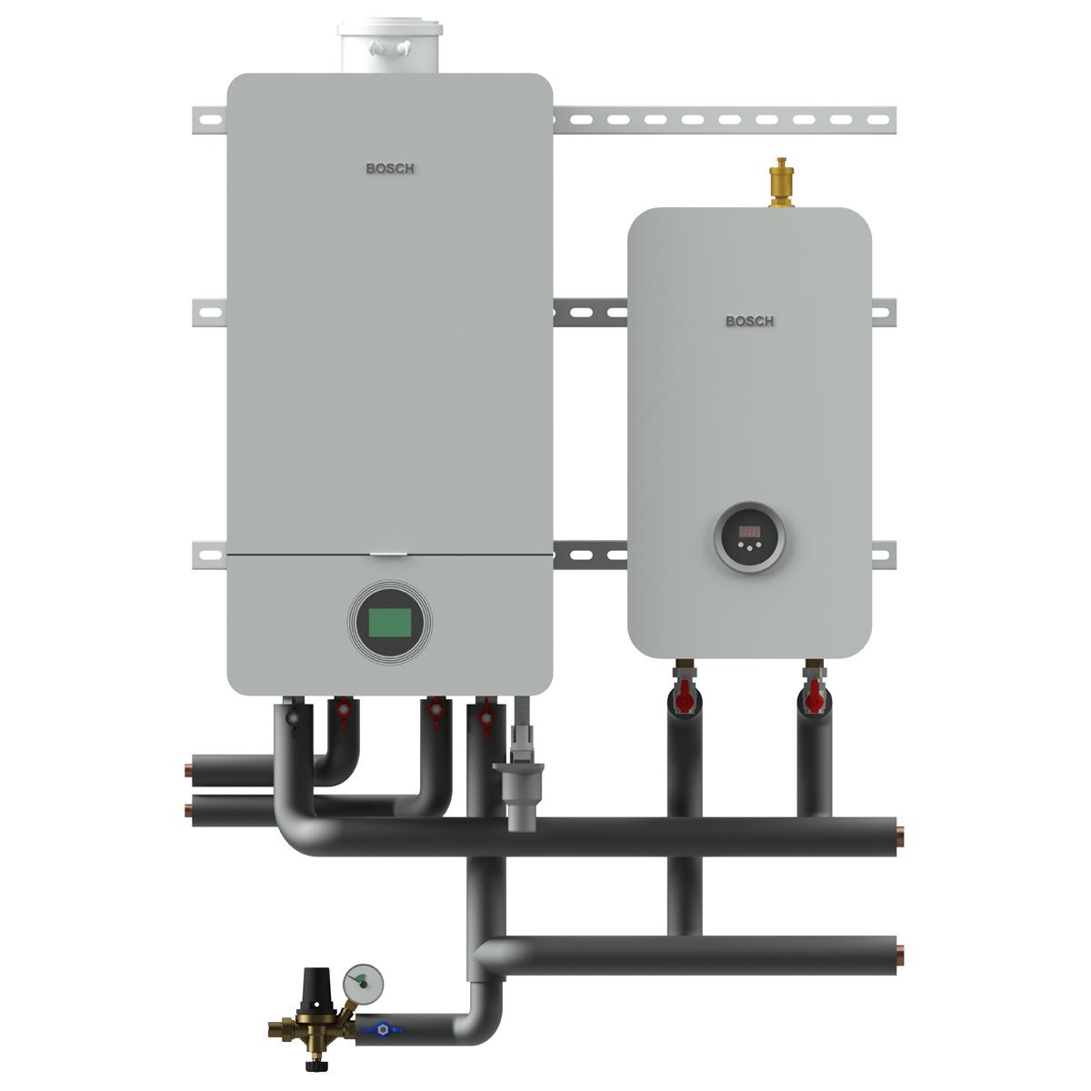 Комбінована котельня MAGMAmodule® Block A - гаряча вода за допомогою газового котла