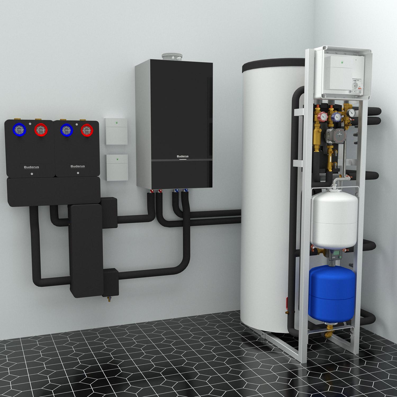 MAGMAmodule® Basic MS30018R - інтеграція з Bosch/Buderus - приклад монтажу