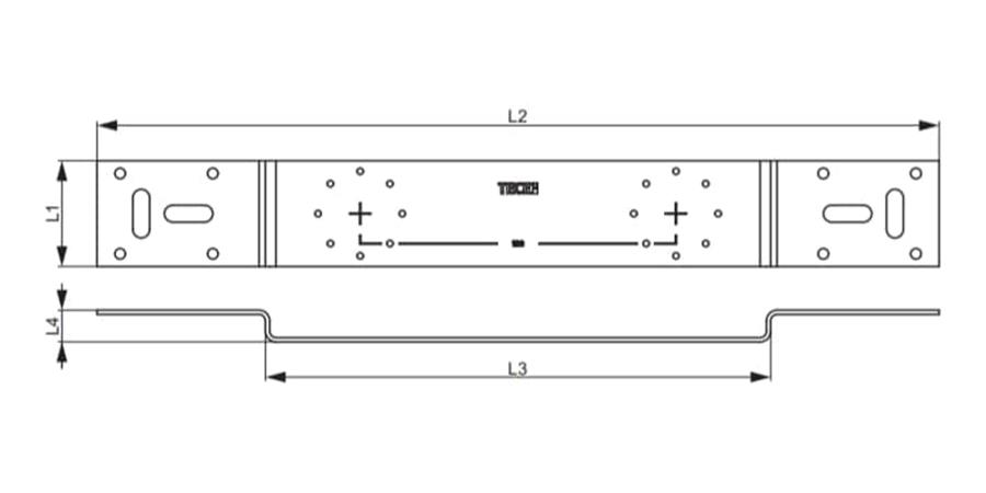 Монтажна пластина для гігієнічного блоку TECEflex схема