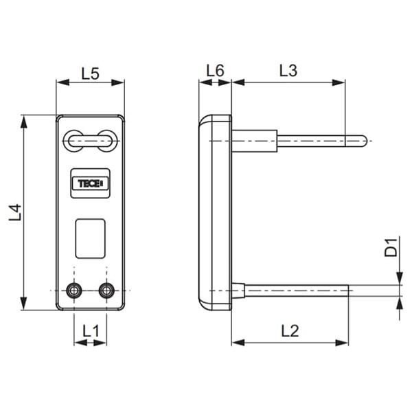 Комплект для підключення радіаторних блоків TECEflex схема