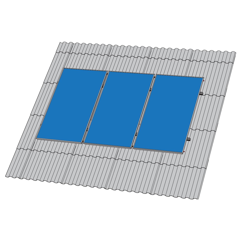 Кріплення сонячного колектору FK8003 - скатна покрівля