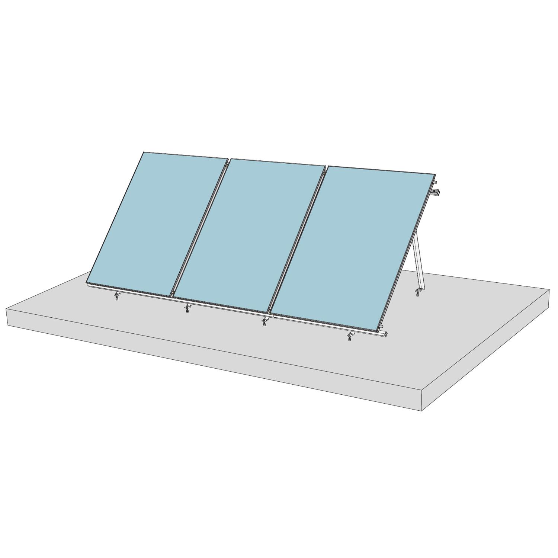 Кріплення на плоскій покрівлі сонячного колектору FK8003