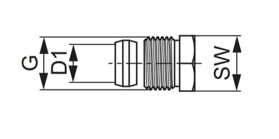 Затискач цанговий для мідної нікельованої трубки TECEflex схема