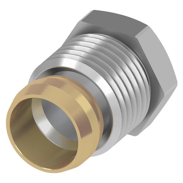 Затискач цанговий для мідної нікельованої трубки TECEflex