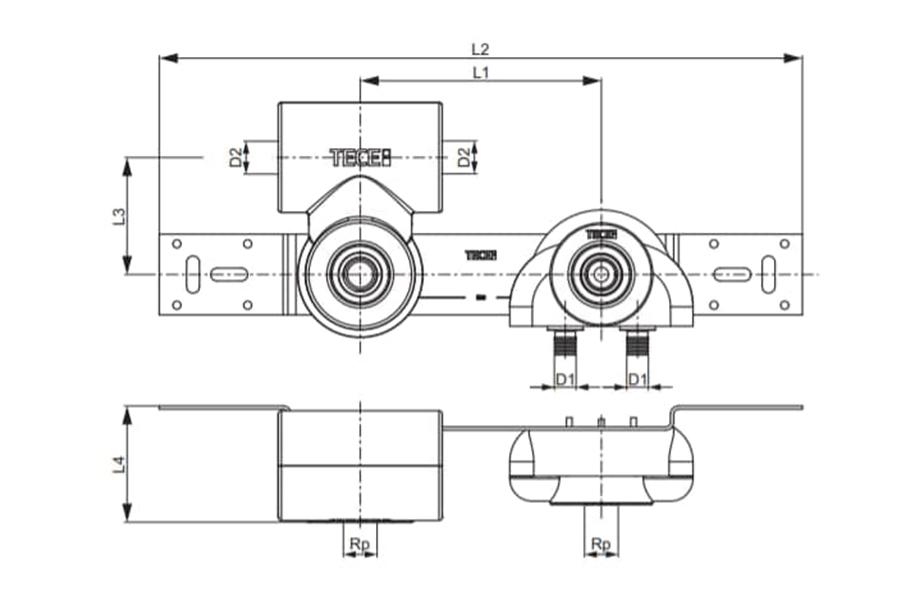 Блок гігієнічний 16х1/2'' TECEflex схема