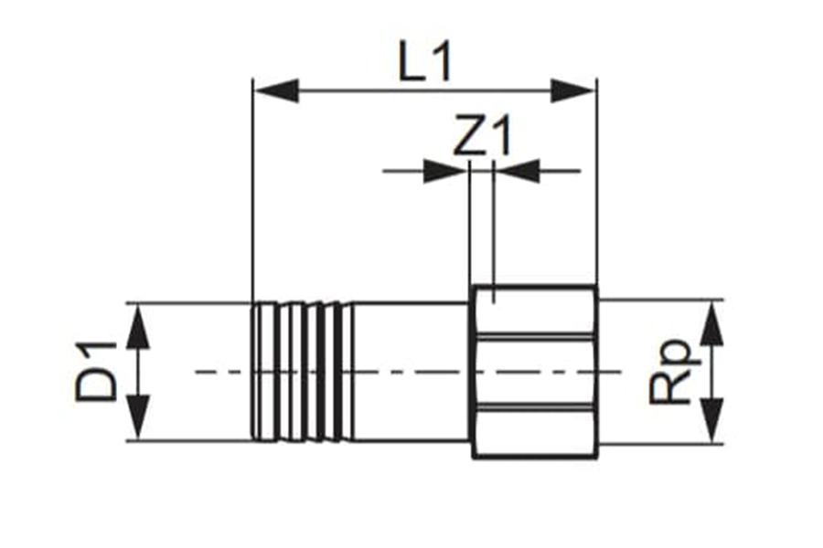 Різьбовий перехідник для гігієнічного блоку TECEflex схема