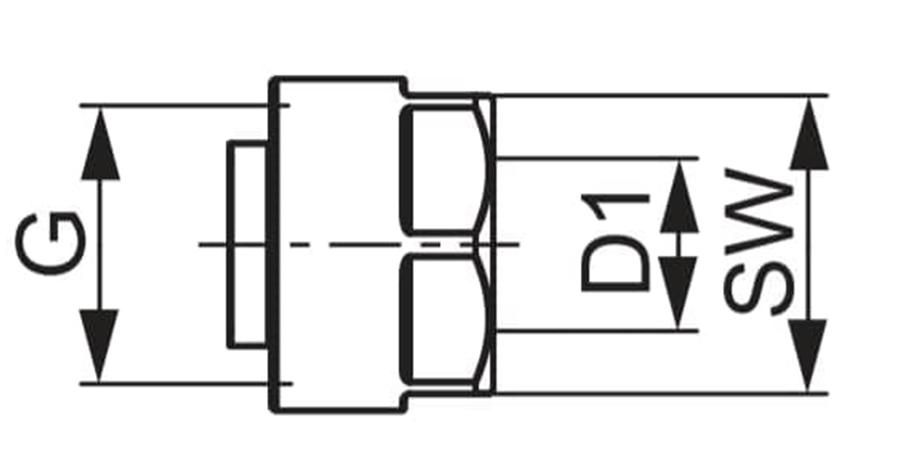 Різьбозатискне з'єднання TECEflex схема