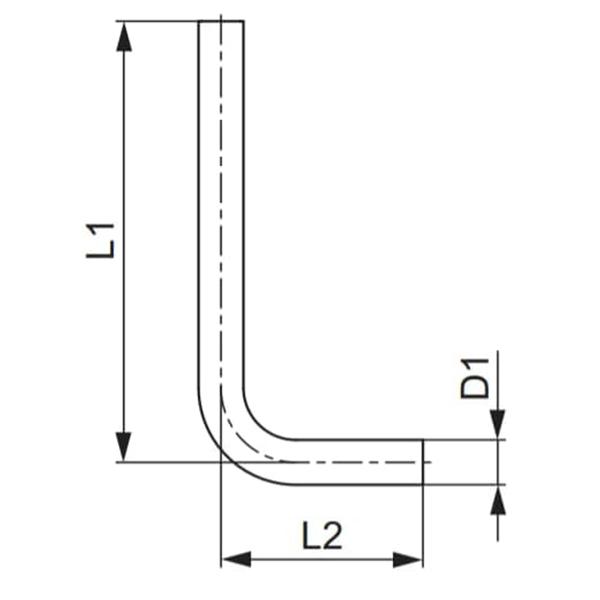 Трубки підключення радіатора до блока плінтусної розводки TECEflex схема
