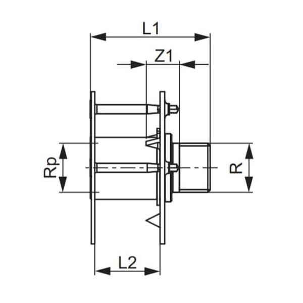 Уніеврсальна настінна втулка TECEflex схема