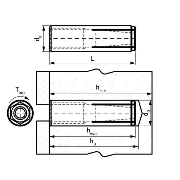 WDI1 Забивний сталевий анкер схема