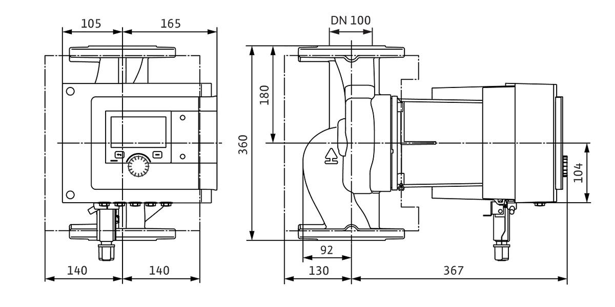 Циркуляційний насос Wilo Stratos MAXO схема