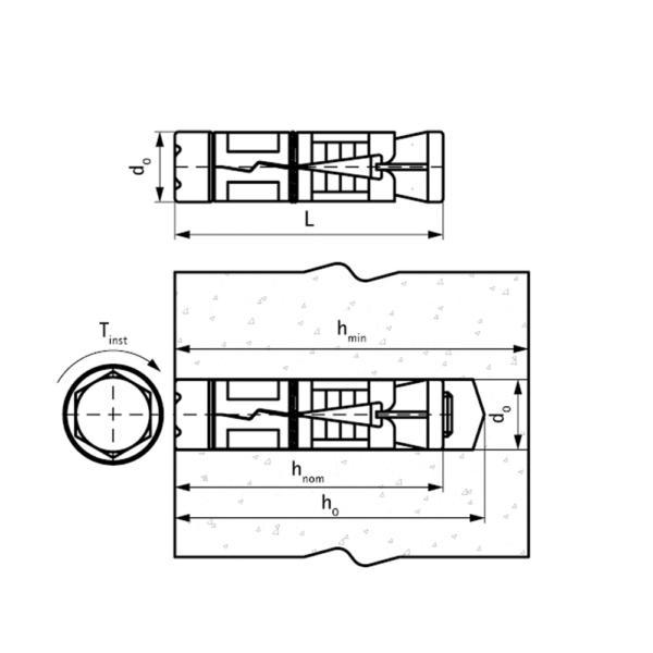 WSA1 Анкер-гільза схема