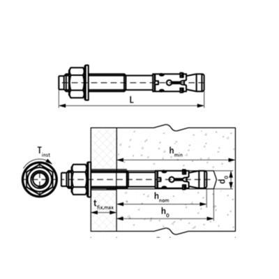 Walraven WTB1 Розпірний анкер - розміри