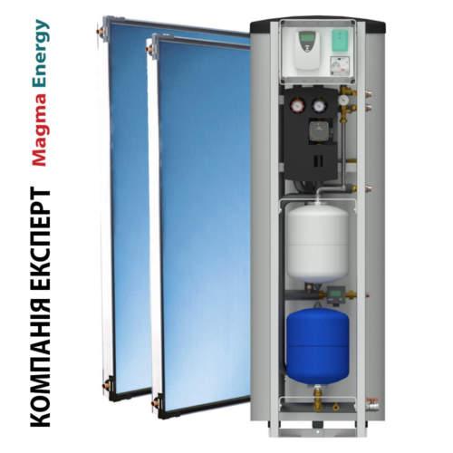 Геліосистема MAGMAmodule® Комплект Z – з вузлом рециркуляції ГВП